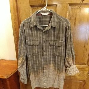 Cool Ombre tie-dyed button down shirt!